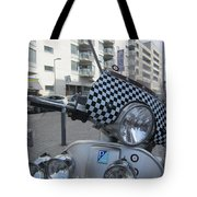 Scooter In The Spotlight Tote Bag