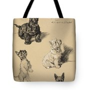 Scotch Terrier And White Westie Tote Bag