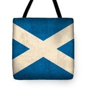 Scotland Flag Vintage Distressed Finish Tote Bag by Design Turnpike