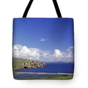 Scotland Shetland Islands Eshaness Cliffs Tote Bag