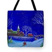 Scottie Sleigh Ride Tote Bag