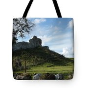 Scottish Castle Ruins Tote Bag