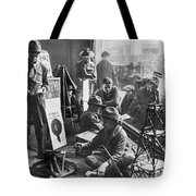 Scouts Camp In Window Tote Bag