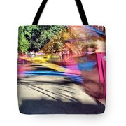 Scrambler Blur Tote Bag