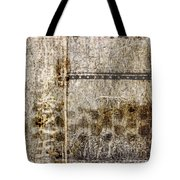 Scratched Metal And Old Books Number 1 Tote Bag