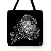 Scratched Rose Tote Bag