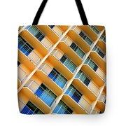 Scratchy Hotel Facade Tote Bag