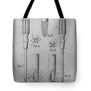 Screwdriver Patent Drawing Tote Bag