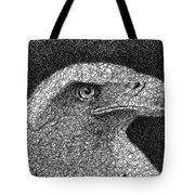 Scribble Eagle Tote Bag