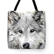 Scrimshaw Grey Wolf Tote Bag