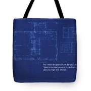 Scripture And Picture Jeremiah 29 11 Tote Bag