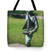 Sculpture - Boy With Sailboat Tote Bag
