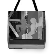 Sculpture On State Street In Black And White  Tote Bag