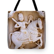 Sculpture On The Royal Cenotaphs Near Jaisalmer In India Tote Bag