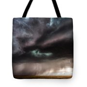Sculpture - Turquoise Colored Storm Over Kansas Plains Tote Bag