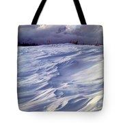 1m9347-sculptured Snow And Grand Teton Tote Bag