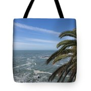 Sea And Palm Tree Tote Bag