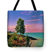 Sea And Tree Tote Bag