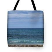 Sea And Wooden Platform Tote Bag