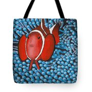 Sea Anemone With Clown Fish Tote Bag