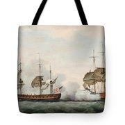 Sea Battle Tote Bag