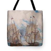 Sea Battle-war Of 1812 Tote Bag