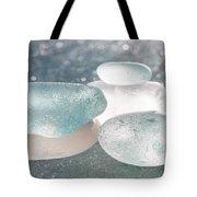 Sea Glass Aqua Shimmer Tote Bag by Barbara McMahon