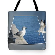 Sea Gull Away Out Of Bounds Tote Bag