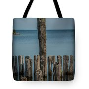 Sea Gull On A Piling Tote Bag