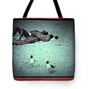 Sea Gulls And Sunbathers Collage Coney Island New York City 1977-2013 Tote Bag