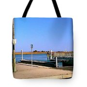 Sea Gulls Watching Over The Wetlands Tote Bag