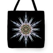 Sea Holly I Flower Mandala Tote Bag