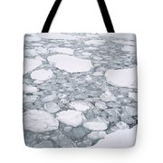 Sea Ice Pancake Ice Forming Antarctica Tote Bag