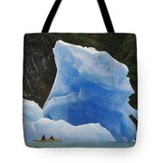 Sea Kayaking With Icebergs Tracy Arm Tote Bag