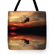 Sea King Sunset  Tote Bag