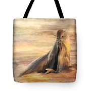 Sea Lion Mom And Pup Love On Galapagos Island Tote Bag