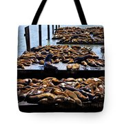 Sea Lions At Pier 39  Tote Bag