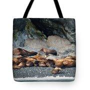 Sea Lions On The Sea Shore Tote Bag