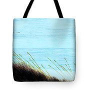Sea Oats In The Wind Drawing Tote Bag
