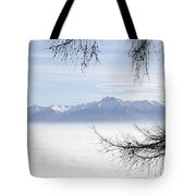 Sea Of Fog And A Tree Tote Bag
