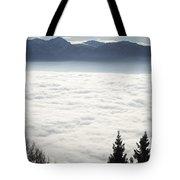Sea Of Fog And Alps Tote Bag