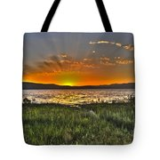 Sea Of Galilee Sunset Tote Bag