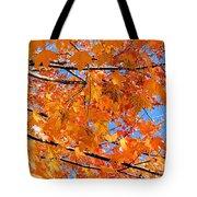 Sea Of Orange And Blue Tote Bag