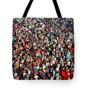 Sea Of People Tote Bag by Glenn McCarthy Art and Photography
