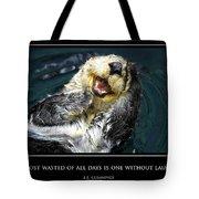 Sea Otter Motivational  Tote Bag by Fabrizio Troiani