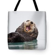 Sea Otter Scratching Head And Yawning Tote Bag