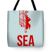 Sea Seattle Airport Poster 1 Tote Bag by Naxart Studio