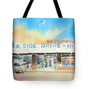 Sea Side Drive In Tote Bag