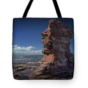 Sea Stack At North Cape On Prince Edward Island Tote Bag