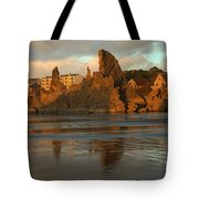 Sea Stacks And The City Tote Bag
